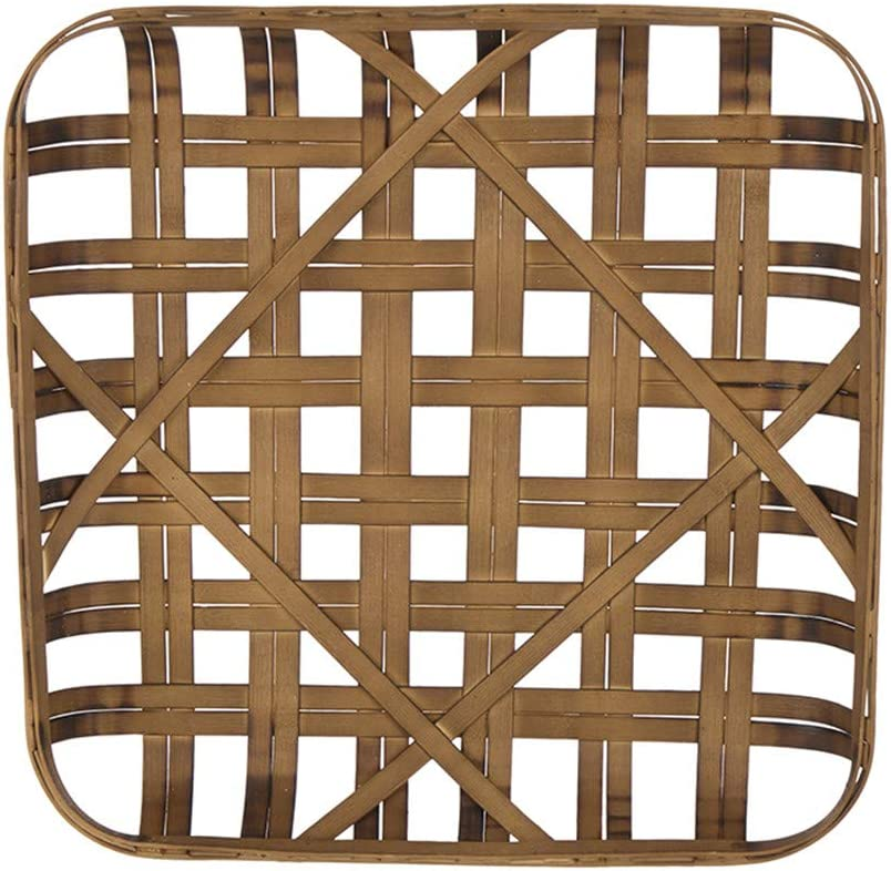 Over item handling ☆ Glitzhome Square Tobacco Basket 24 Inch Wall D Brown Bamboo Dark Houston Mall