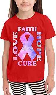 Boy's&Girl's Faith Love Hope Breast Cancer Awareness Funny Children's T-Shirt