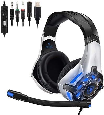 SADES SA822T LED Xbox one headset stereo cuffie da gioco per Xbox One controller PS4 PC, morbido paraorecchie memoria - Cuffie con microfono con cancellazione del rumore,Lper laptop,Mac,iPad,Nintendo - Confronta prezzi