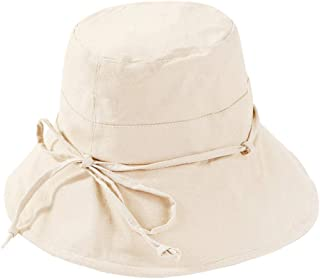 XINCHENYU Cappello da Spiaggia Floppy da Donna, Cappello Estivo da Donna, Cappello Estivo con Maniche Lunghe in Cotone