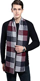 Mens Winter Cashmere Scarf - Ohayomi Fashion Formal Soft Scarves for Men(35 Colors)