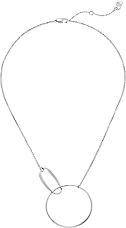 "LAUREN Ralph Lauren Modern Metal  16"" Sculptural Interlocking Link Pendant Necklace"