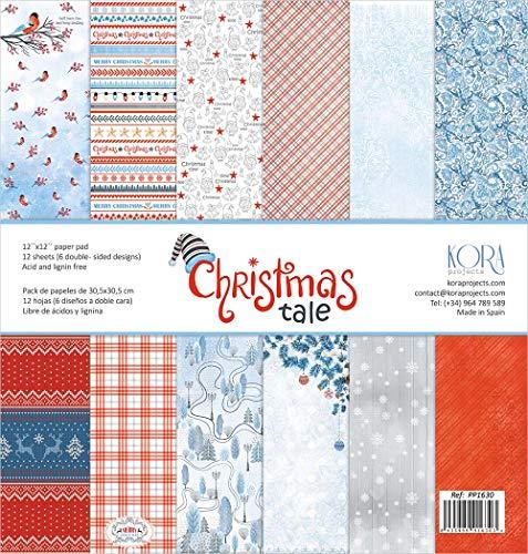 """Pack de 12 Papeles (12""""x12""""/30,5x30,5cm) - Christmas Tale"""