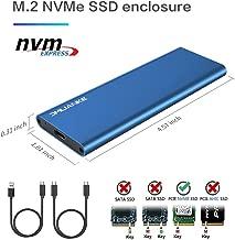 DMLIANKE M.2 NVME Enclosure M.2 to USB 3.1 Gen 2 SSD Enclosure for NVME SSD(Blue)