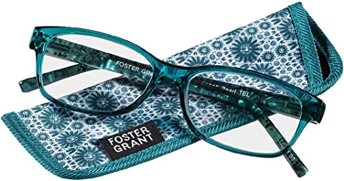 Foster Grant Pearla Reading Glasses Teal +3.25
