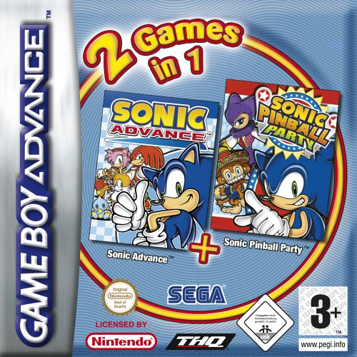 2 Games in 1 - Sonic Advance + Sonic Pinball