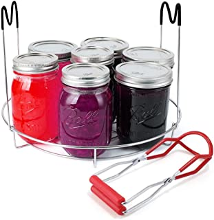 Canning Rack for Hot Water Canner, Stainless Steel Canner Rack with Canning Jar Lifter, Regular Mouth and Wide Mouth Mason...