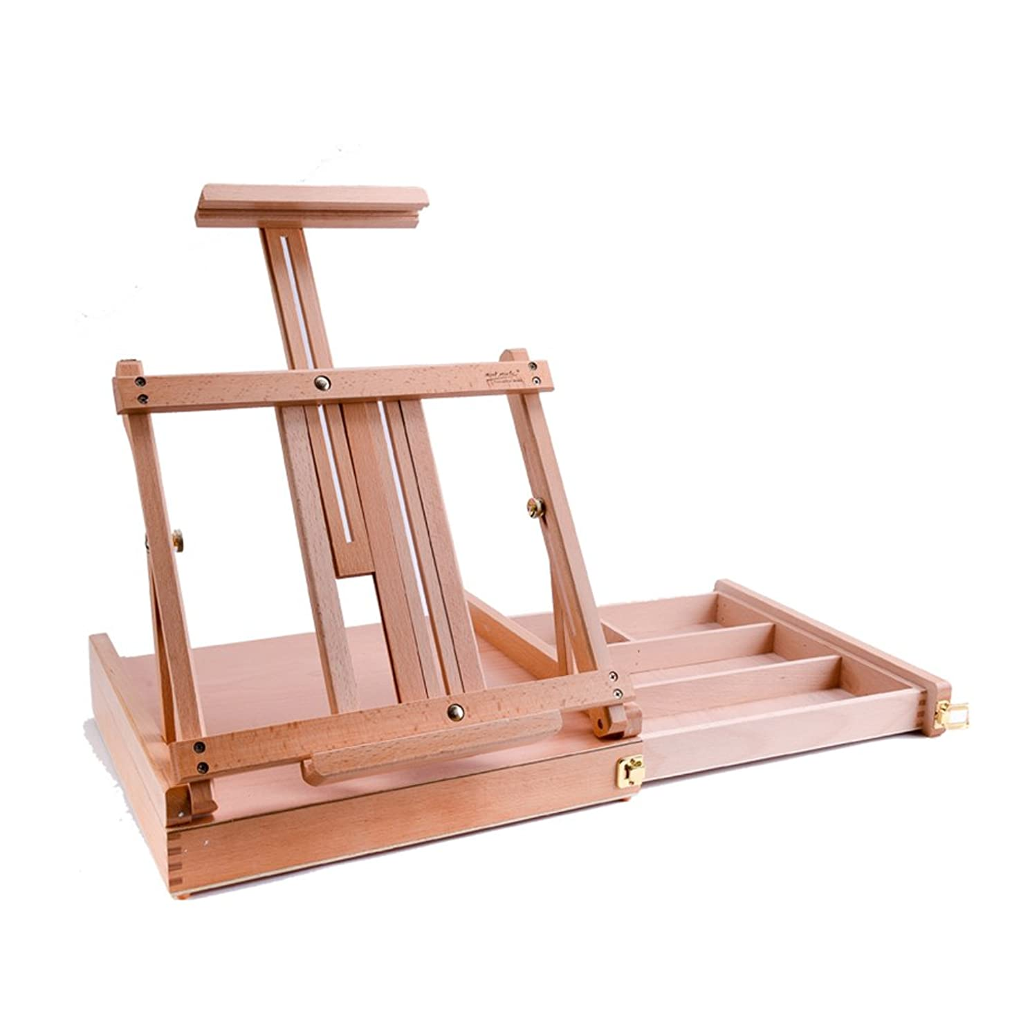 選択する登場治世DNSJB 引き出し付きデスクトップイーゼル木製イーゼル木製折り畳み油絵フレームアダルトスケッチツール、43x32x25cm