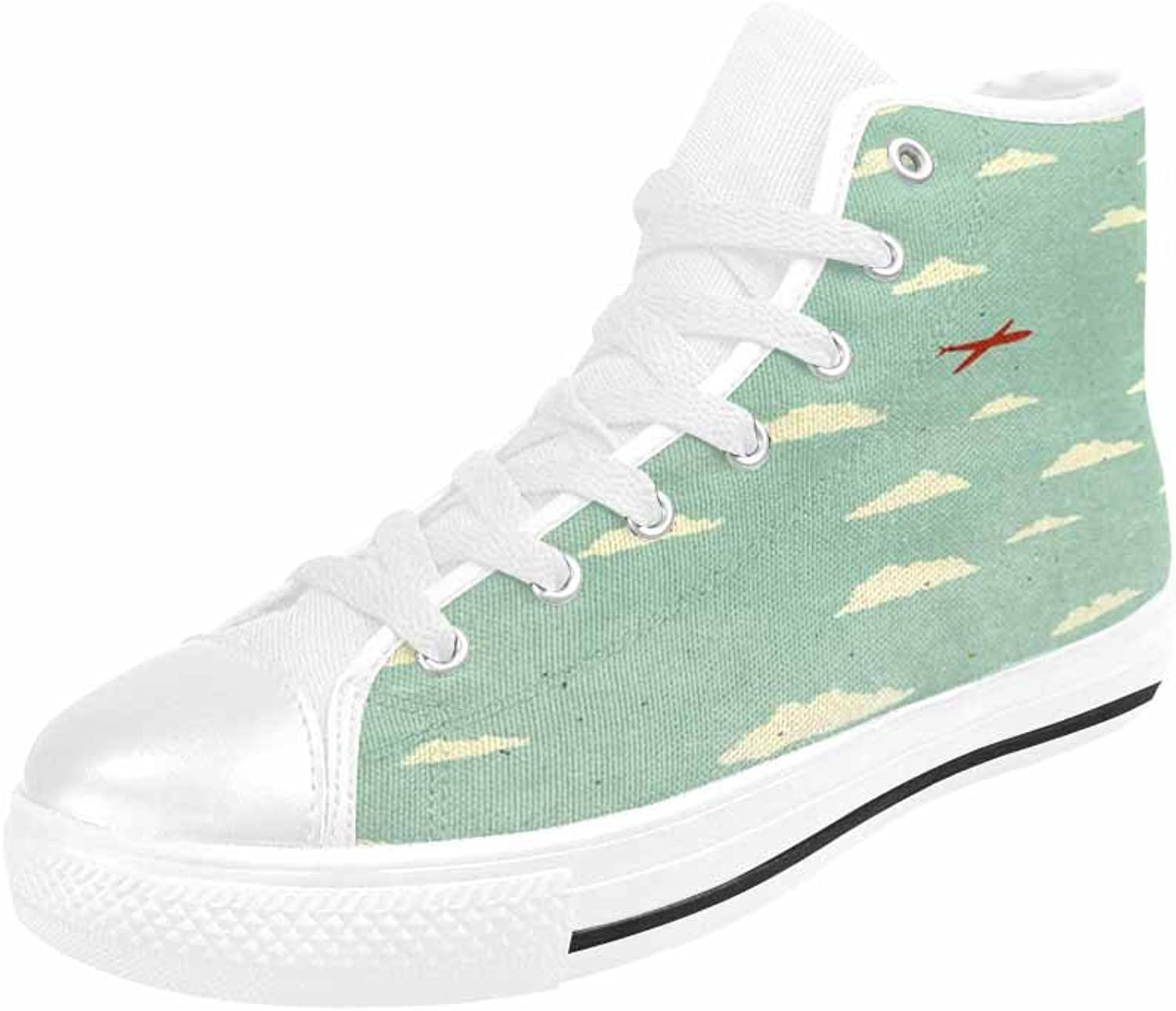 MingDe Sports Women's High Top Rubber Sole Casual Canvas Sneaker shoes