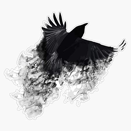 Witchcraft Wicca Bird Vinyl Decal for your Car Laptop Tablet Black Crow Sticker Witch Crows Sticker Raven Decal