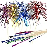 Cocktail Picks Firework Party Picks Ergonflow 120 Pcs Firework Cake Toppers, Sandwich & Cocktail Picks, Toothpicks for Cake Decoration, Party Supplies
