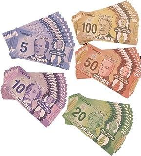 Canadian Play Money. Set Includes 50 Bills