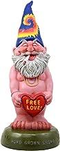 Ebros Free Spirited Smoking Naked Hippie Gnome Statue 13.5