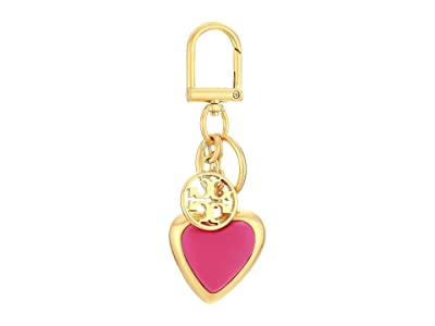 Tory Burch Logo Heart Key Fob (Crazy Pink) Wallet