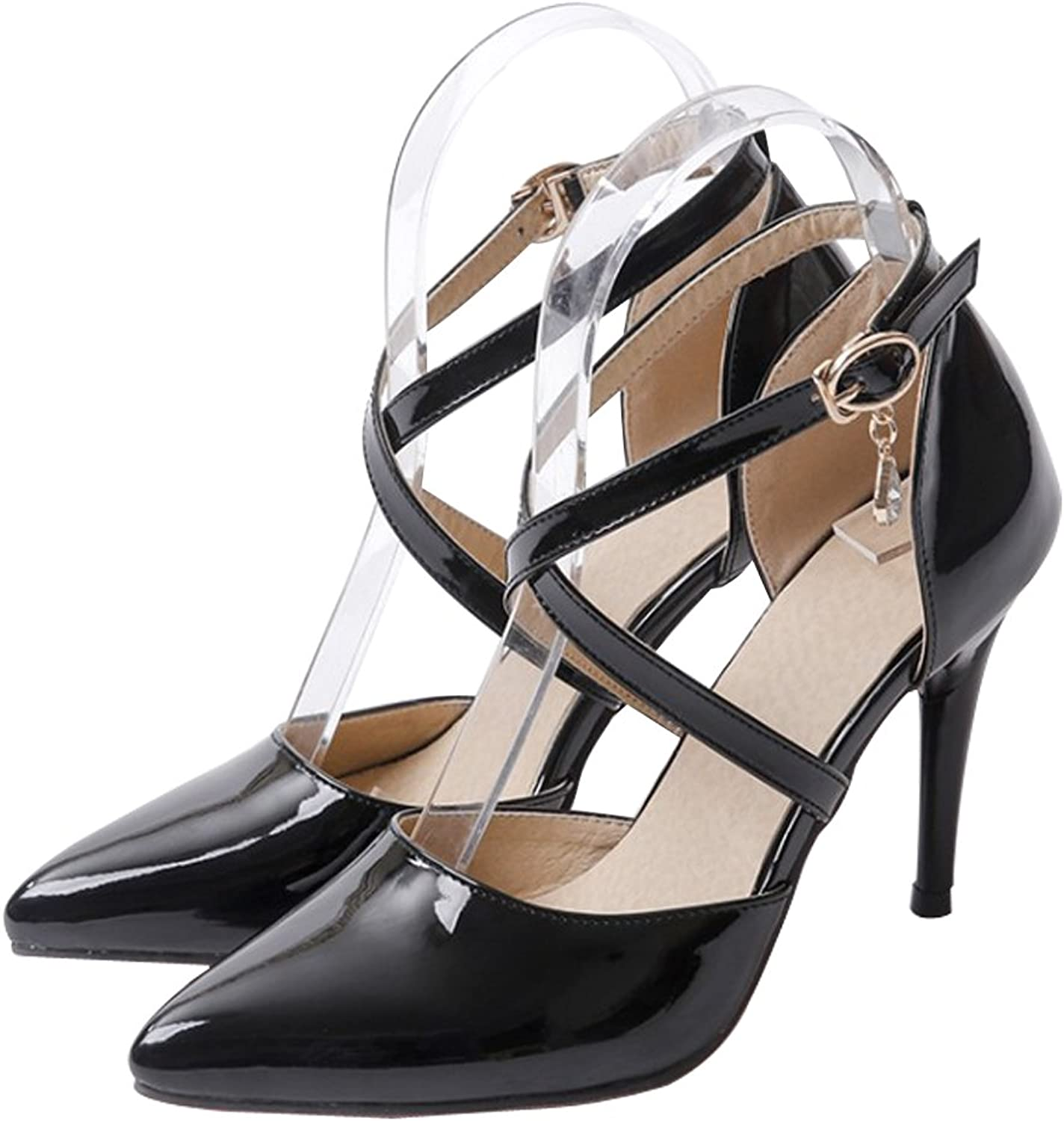 Eclimb Women's Evening Pointed Closed Toe Stiletto Pump Heels shoes