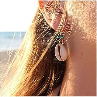 Cowrie Shell Earrings Turquoise Gold Earrings for Women and Girls Boho Earring Body Jewelry
