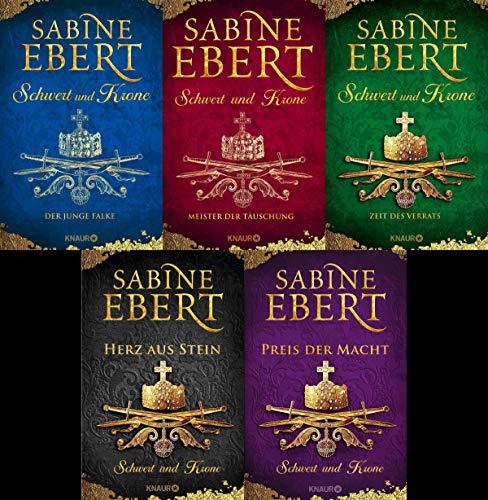 Schwert und Krone Serie Band 1-5 plus 1 exklusives Postkartenset