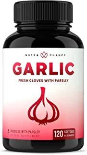 Odorless Garlic Pills - Extra Strength Softgels 1000mg Immune Support Supplement - Heart, Blood Pressure & ...