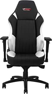 GT OMEGA EVO XL Racing Gaming Chair with Lumbar Support - Heavy Duty Ergonomic Office Desk Chair with 4D Adjustable Armrest & Recliner - PVC Leather Esport Seat for Racing Console (White)