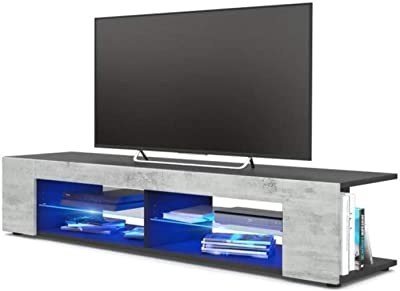 Simple and Modern Family Living Room TV Cabinet Novel and Fashionable TV Cabinet Modern High End TV Cabinet Annacboy (Color : Gray)
