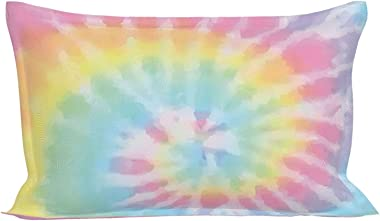 Pastel Tie Dye Pillow Cases Microfiber Pillowcase Queen for Hair and Skin Wrinkle Resistant Pillow Cover with Envelope Closur