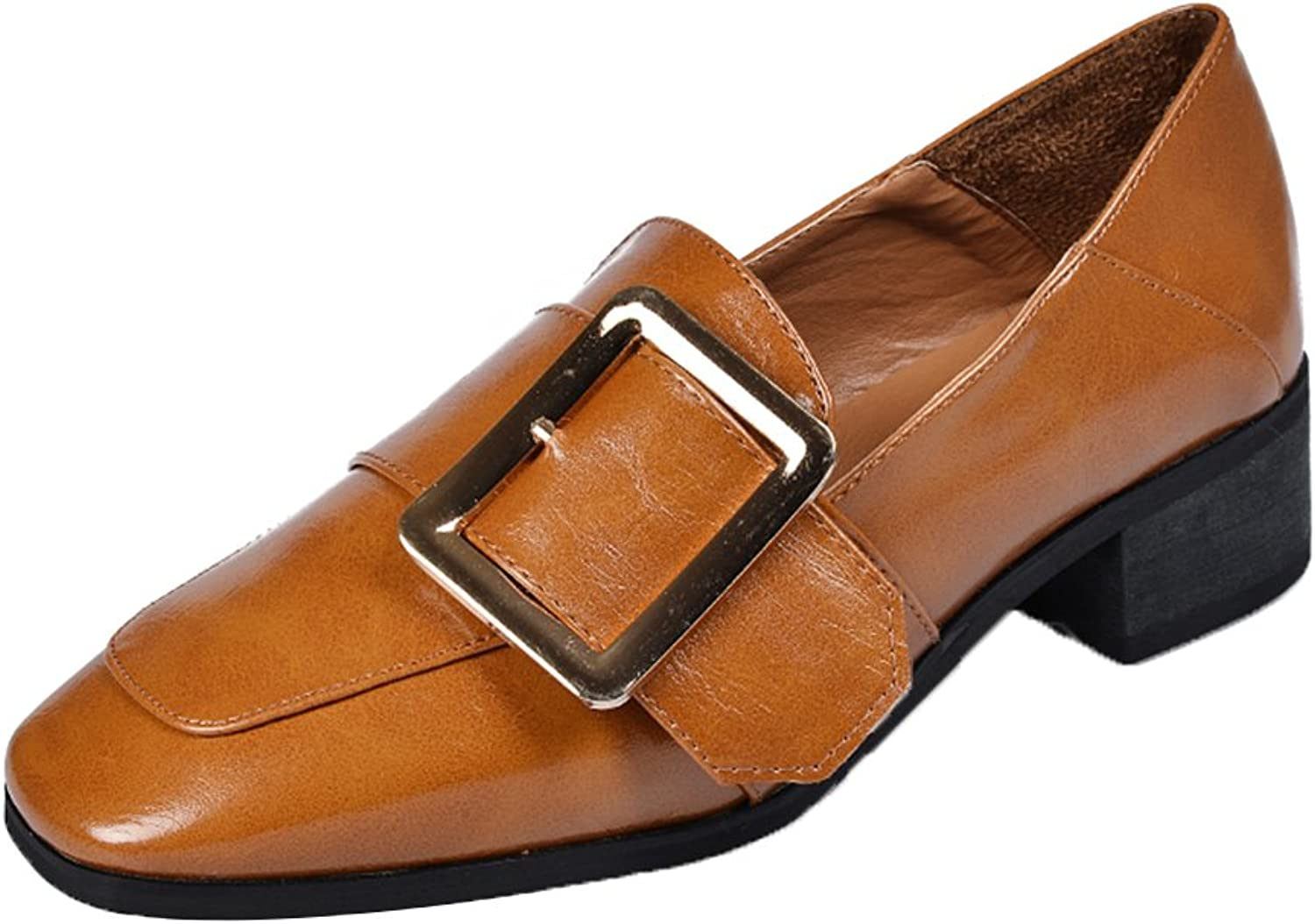 Kyle Walsh Pa Women British Retro Buckle Slip-On Chunky Heel Loafer shoes