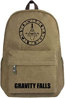Gravity Falls Grotesque Town Canvas Backpack Student Bag