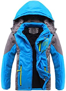 Valentina Latest Boys Thicken Fleece Hooded Jacket Warm Quilted Coat Outdoor Cool Cute Fashion for Winter Autumn Spring