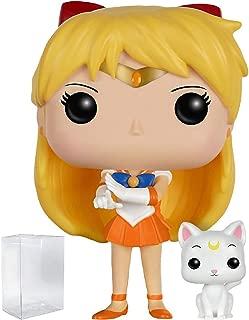 Funko Anime: Sailor Moon - Sailor Venus with Artemis Pop! Vinyl Figure (Includes Compatible Pop Box Protector Case)