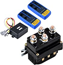 Astra Depot 12V 500A Winch Solenoid Contactor Relay + Twin Wireless Remote Controls for ATV UTV 4WD 4x4 8000lbs-12000lbs Winches