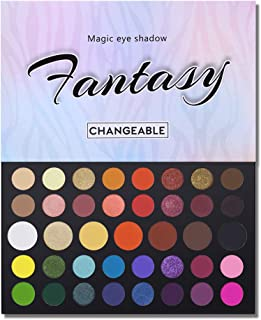 39 Colors High Pigmented Shimmer Matte Eyeshadow Makeup Palette Full Spectrum Artist Waterproof Creamy Blendable Eye Shadow Cosmetics (Color 1)