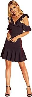 Maxima Mini Ruffled Dress Black - Medium