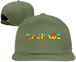 Custom Unisex Adjustable Sports Kaskade 1 Logo Snapback Flat Baseball Cap One Size