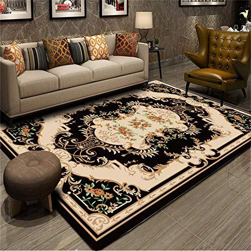 WQ-BBB Alfombra Infantil Insonorizar Decoración de Estilo Europeo marrón Negro alfombras pequeñas 50X80cm