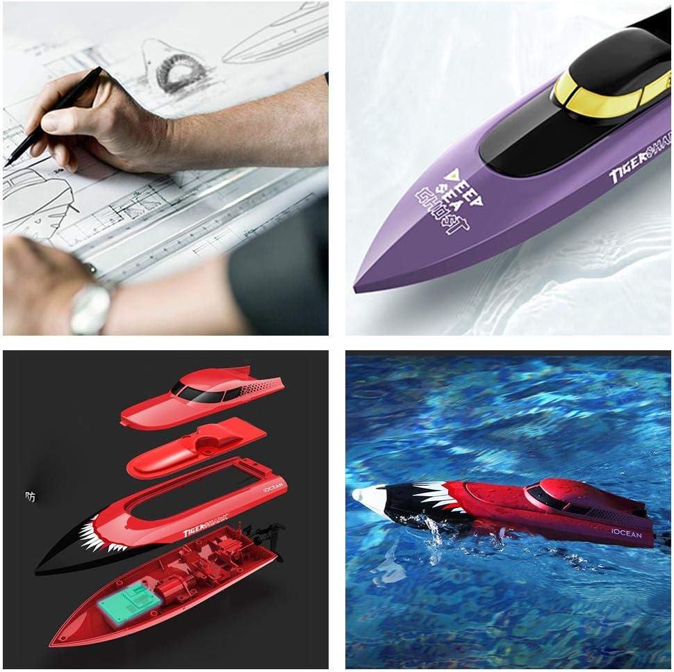 Ferngespr/äche 150 M Fernbedienungsboot F/ür Pools Und Seen 2,4 GHz Hochgeschwindigkeits-Radio-Elektro-Rennboot F/ür Kinder Erwachsene Jungen M/ädchen RC-Boot