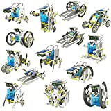 E - Royal Shop 13 in 1 Learning and Education Solar Robot Kit (Multicolour)