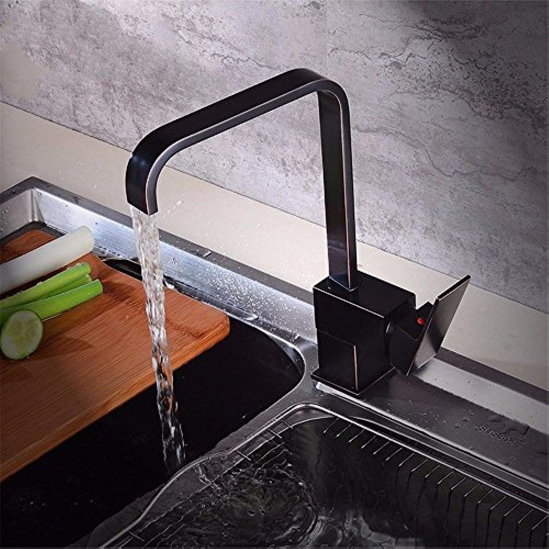 MEIBATH Wasserhahn Küche Mischbatterie Spülbecken Armatur Küchenarmatur Spültischarmatur Retro schwarz Messing schwenkbar Hei und Kalt Wasserhahn