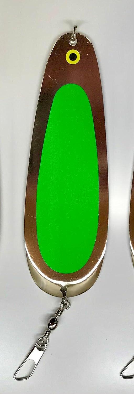 Montana Tackle 4.5-inch Ultralight UV Year-end gift Dodger: FLO Green Kokanee Soldering