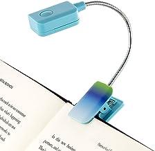 Com clipe de luz de livro de bull francês – Ombre – Luz de leitura de LED quadrada para livros e eBooks, brilho reduzido, ...
