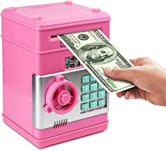 Setibre Piggy Bank, Electronic ATM Password Cash Coin Can Auto Scroll Paper Money Saving..