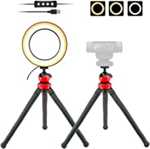 Webcam Light, 6'' USB Ring Light Phone Holder with Tripod Stand for Logitech Webcam C920,C922x,C930e,Brio 4K,C925e,C615 - Acetaken