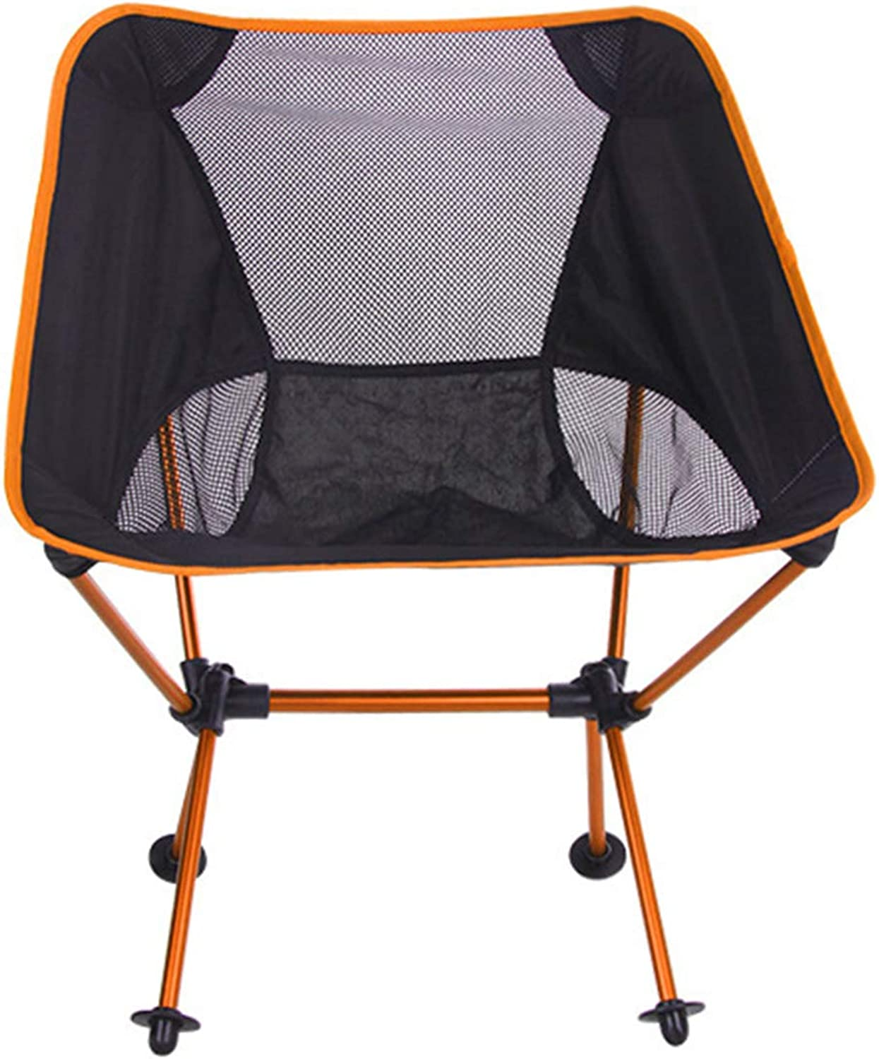 New Outdoor Tool Outdoor Portable Folding Camping Chair Light Fishing Beach Chair Aviation Aluminum Alloy Backrest Recliner Use for Camping Outdoor Travel Activities (color   orange)