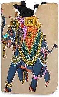Panier à linge ethnique éléphant grand sac à linge sale pliable grand panier de rangement en tissu paniers de rangement en...