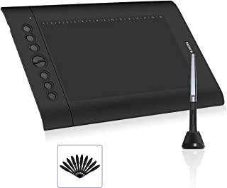 Android Supported HUION H610 Pro V2 Drawing Tablet, Upgraded Battery Free Graphics Tablet with Tilt Function 8192 Pressure Sensitivity 8 Express Keys,10x6.25 inch Digital Pen Tablet for Windows Mac