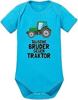 Shirtcity Tausche Bruder gegen Traktor Baby Strampler by