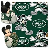 NFL New York Jets Co-Brand Disney Mickey Mouse Hugger & Fleece Throw Set, 40' x 50'