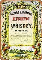 Hygienic Whiskey for Medical Use 金属板ブリキ看板警告サイン注意サイン表示パネル情報サイン金属安全サイン