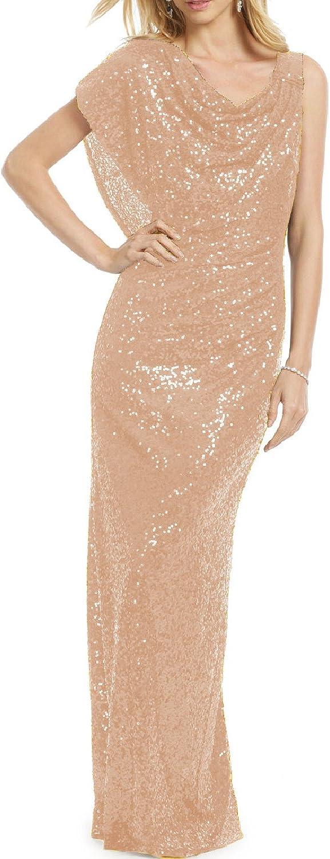 YSMei Women's Long Mermaid Sequins Evening Prom Dresses Cloak Formal Gowns Ysq54