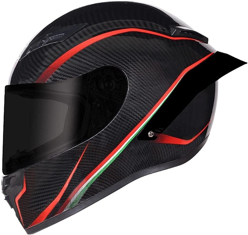 Vbnmda Casco Motocicleta Full Light ECE Aprobado Anti-Fog Visor Helmets Motorcycle Men and Woman para Locomotive Cruiser Moped Racing Mofa Vespa-L_C