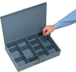 Durham 215-95-IND Gray Cold Rolled Steel Individual Adjustable Compartment Small Scoop Box, 13-3/8